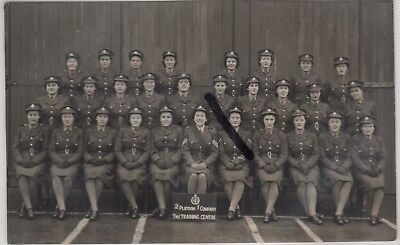 Military: Signed RP Postcard of Women in ATS Uniform at Training Centre c.1948