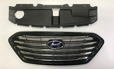 OEM Genuine Front Hood Radiator Grille Set For 2010 2014 Tucson ix35 Fuel Cell