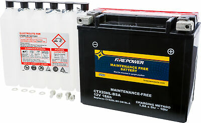 Maintenance Free Sealed Battery Fire Power CTX20HL-BSA Replaces YTX20HL-BS