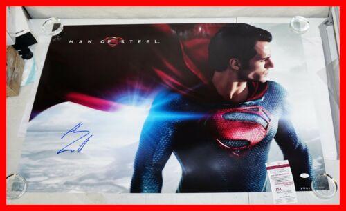 ! Henry Cavill autographed 24x36 Superman, Man of Steel poster JSA PSA WITNESS !