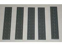 4210678 Brick 3832 5x LEGO NEW 2x10 Dark Stone Grey Plate