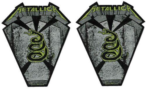 Metallica Pit Boss Coffin Die-Cut Patch Lot of 2[UK Import] Standard Heavy Metal