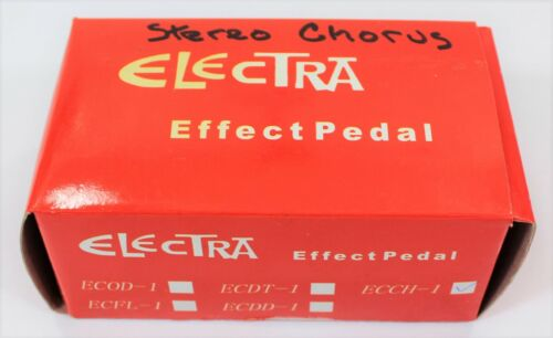 NEW/SEALED Electra Stereo Chorus Guitar Effect Pedal ECCH-1