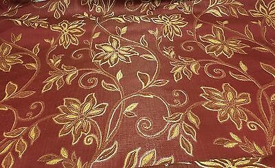 SAMUEL SIMPSON RED FLORAL FABRIC 1.4 METRES