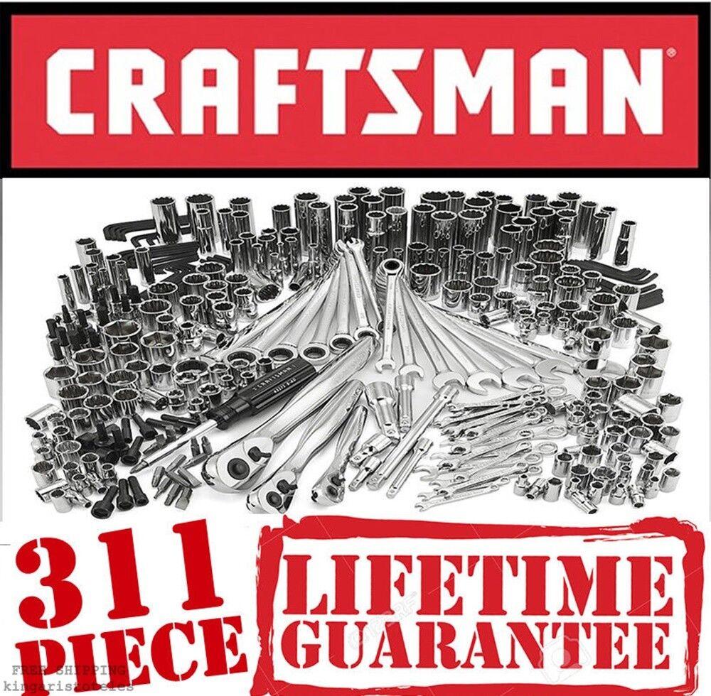 Craftsman 311 Pc Mechanics Tool Set Universal SAE Metric Rat