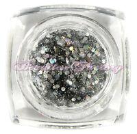 Bf Argento Grande Glitter Nail Art Gel Uv Alta Lucentezza Top Acrilico -  - ebay.it
