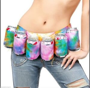 The-Beer-or-soda-Belt-6-Pack-Holster-Tie-Dye-party-Adjustable-Up-to-54