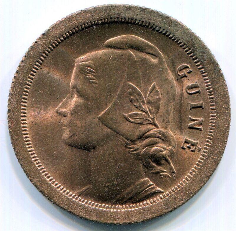 Guinea-Bissau, 1933 20c KM#3 1yr Type in Red BU Rare
