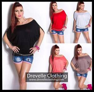 LADIES SEXY OVERSIZE SHIRT WITH BUTTONS - 5 COLOURS Bundall Gold Coast City Preview