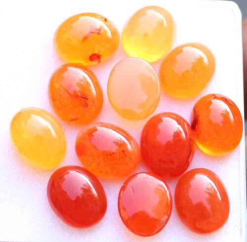54.60 Ct Natural Orange Carnelian Cabochon Loose Gemstone Stone