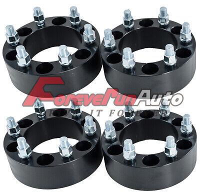 "(4) Black 6x5.5 (6x139.7) 2"" 6 Lug Wheel Adapters Spacers fits Chevy Tahoe GMC"