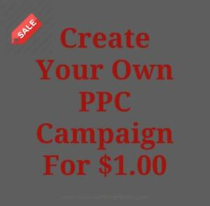 Create Your Own Pay Per Click Campaign For Just $1.00 - Call Us Today 647-803-9514