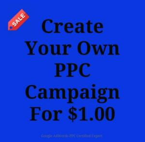 For Just $1.00 Make Your Own Pay Per Click Google adWords Campaign Call Today 647-803-9514