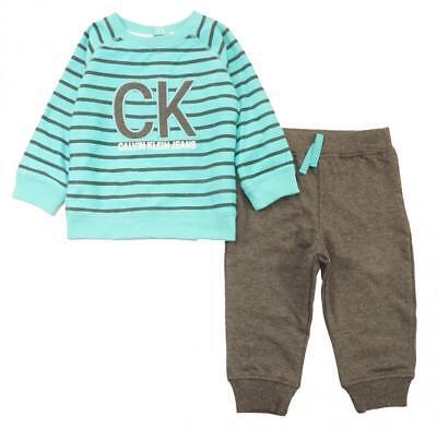 Calvin Klein Infant Boys Aqua Sweatshirt & Jogger Set Size 3