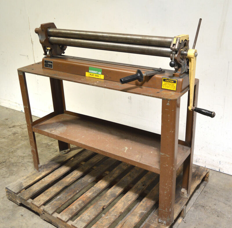 "Di-Acro Houdaille 36 Sheet Metal 36"" Roller 22-Gauge 4-Roller Machinist Tinsmith"