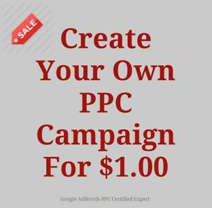 Make Your Own PPC Google adWords Campaign For $1.00 - Toronto - Sale Call Now 647-803-9514