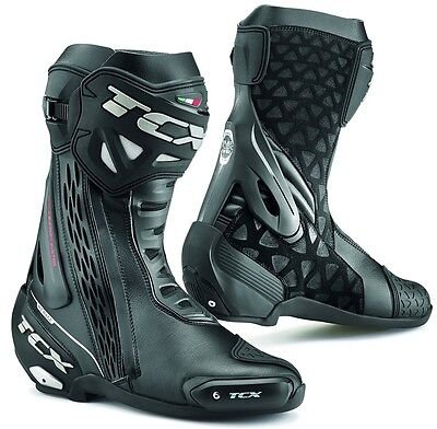 STIVALI BOOTS MOTO RACING SPORT TCX RT-RACE NERO BLACK  TORSION CONTROL TG 41