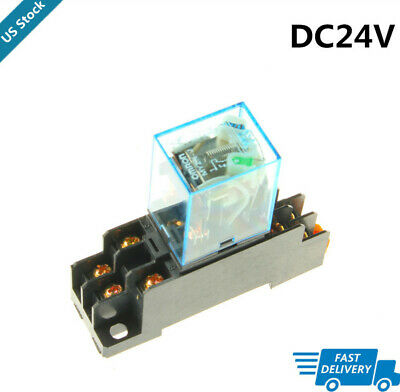 Idec RR3PA-UL /& SR3P-06 Lot of 4 Relay /& Sockets 3PDT 24VDC Coil 240VAC Contacts