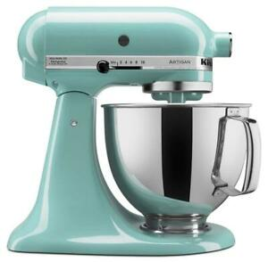 NEW KitchenAid KSM150PSAQ Artisan Series Stand Mixer with Pouring Shield, Aqua Sky, 5 quart Condtion: New, Aqua Sky, ...