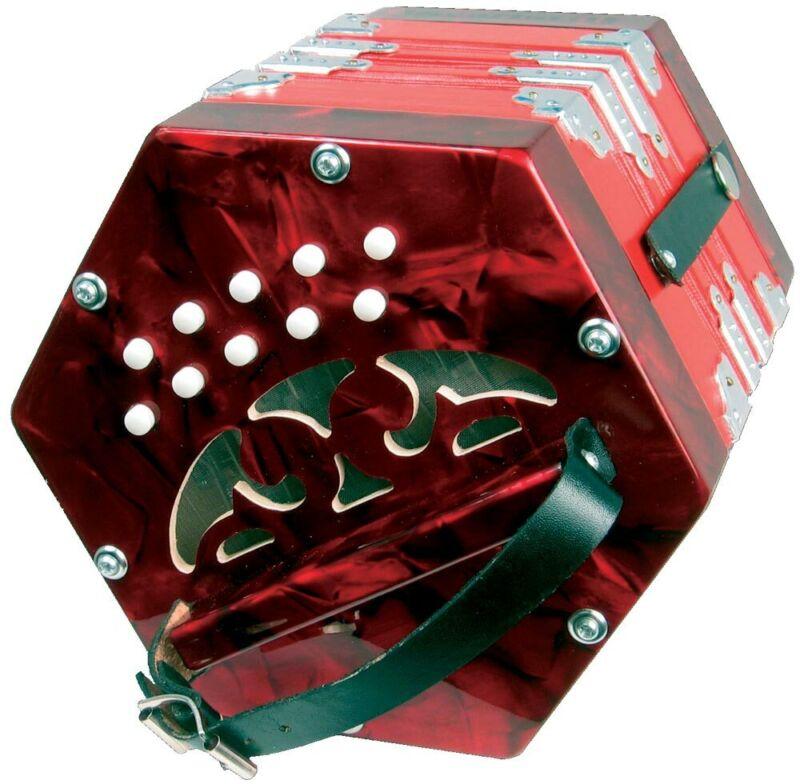 Scarlatti ANGLO CONCERTINA, Red. 20Key Irish/Morris Squeezebox. From Hobgoblin