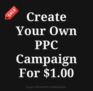 Do Your Own Google Ads Campaign For Just $1.00 - PPC Management Services - Call Today 647-803-9514