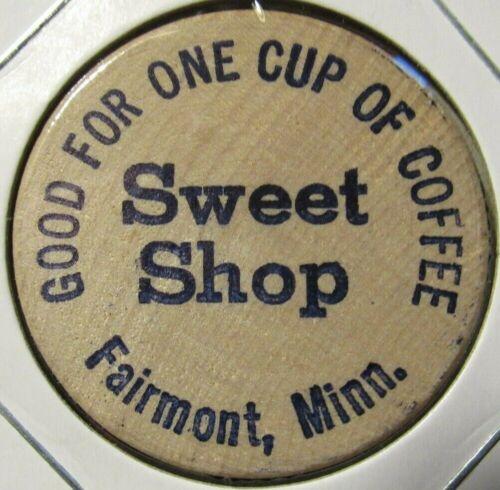 Vintage Sweet Shop Fairmont, MN Wooden Nickel - Token Minnesota