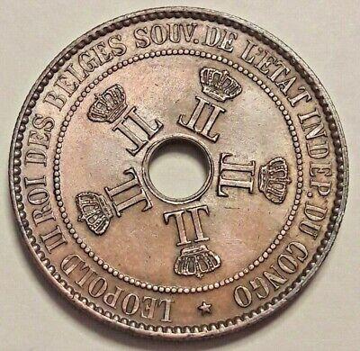 ==>> 10 Cent 1888 Belgisch Congo Belge 10 cents KM# 4, LA# VCM-5 <<===