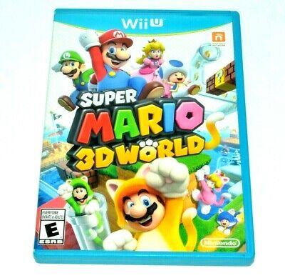 Super Mario 3D World (Nintendo Wii U 2013) Platforming Video Game. Complete!