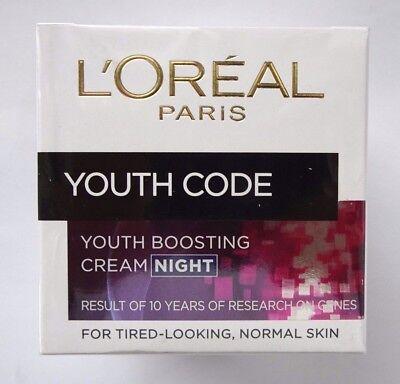50 Ml Gesichtspflege ((100ml/35,80€) Loreal Paris YOUTH CODE Gesichtspflege  Anti-Falten  NACHT  50ml)