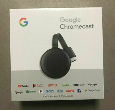 Google Chromecast 3rd Generation Streaming Media Player (NEWEST Version)