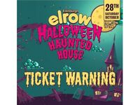 Elrow Haunted House Halloween Ticket for sale face value £55.