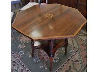 STUNNING VICTORIAN INLAID ROSEWOOD TWO TIER TABLE - WE CAN DELIVER