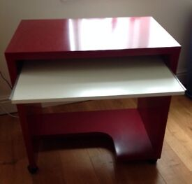 Ikea Red & White Computer Table