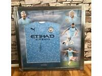 Sergio Aguero Framed Signed Shirt Display (OFFERS)