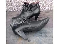 Leather Boots size 4 / 38 Black Peter Kaiser immaculate Condition