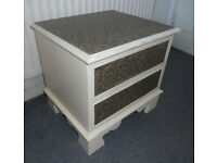 2 Drawer Wooden Chest, Lamp Table, Bedside, Upcycle Project
