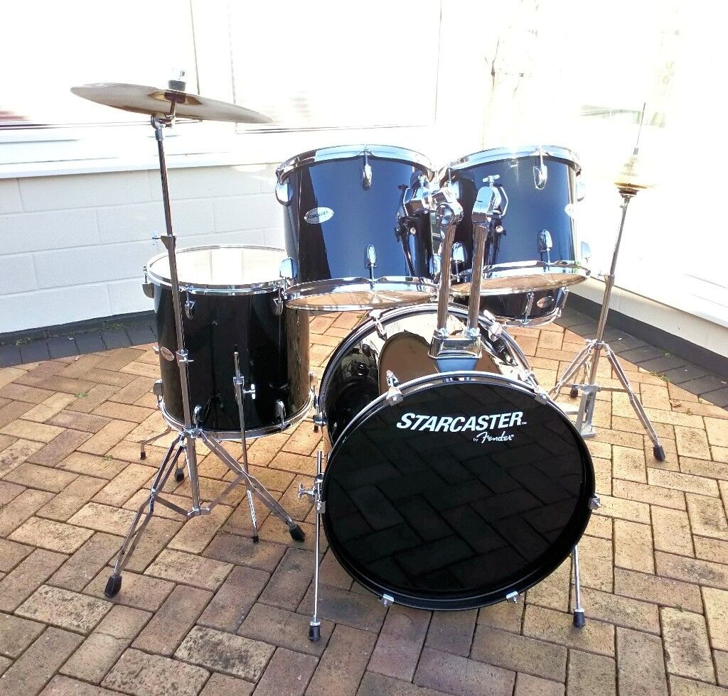 Quality Starter Drum Kit Starcaster By Fender