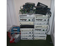 16 X faulty xbox 360 consoles for spares or repair + extras