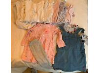 Girls clothes and sleepsuits 9-12 months