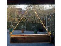 Suspended Hand-Made Barnwood STRAWBERRY / HERB / FLOWER PLANTER