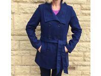 LADIES BRAND NEW BLUE COAT - size 12