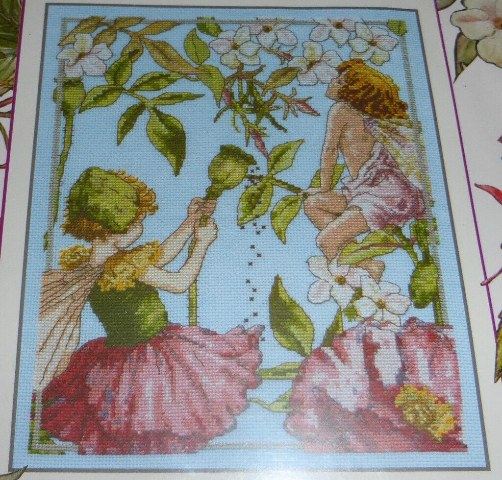 DMC Flower Fairies The Jasmine And Shirley Poppy Fairies Cross Stitch Kit
