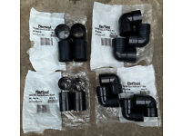 FloPlast 32mm and 40mm Straight Coupler and 90 Elbow Solvent Connectors ABS Black Colour BARGAIN!