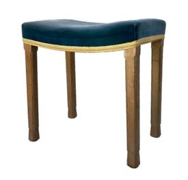 HM QUEEN ELIZABETH II ERII 1953 CORONATION WESTMINSTER ABBEY STOOL CHAIR STAMPED