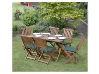Concord 7 piece hardwood garden furniture set
