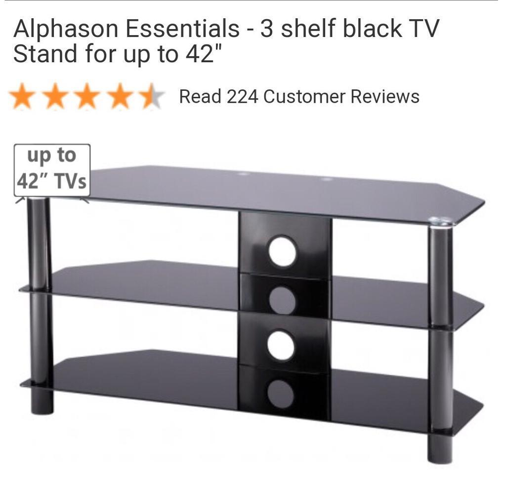 3 Shelf Glass Tv Stand In Doncaster South Yorkshire Gumtree