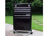 brand new tool cabinet on wheels with 5 drawers and fold down cupboard