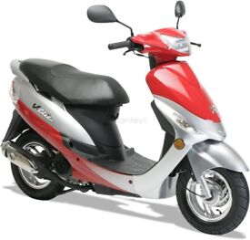RED Peugeot V CLIC 49cc Moped/Scooter