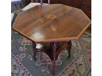 Gorgeous Edwardian Inlaid Rosewood Side Table - WE CAN DELIVER!