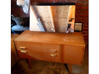 VINTAGE DRESSING TABLE £15.00 42.5 INCHES LONG X 16.5 INCHES DEPTH X 26.5 HEIGHT VIEWING WELCOME